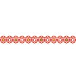 Karen Foster Design - Pavilio Lace Tape - Asanoha - Red