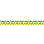 Karen Foster Design - Pavilio Lace Tape - Jaggy - Yellow