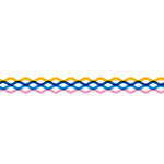 Karen Foster Design - Pavilio Lace Tape - Wave - Yellow