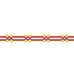 Karen Foster Design - Pavilio Lace Tape - Twist - Red