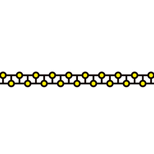 Karen Foster Design - Pavilio Lace Tape - Medaka No Tamago - Yellow
