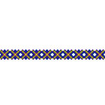 Karen Foster Design - Pavilio Lace Tape - Check - Blue