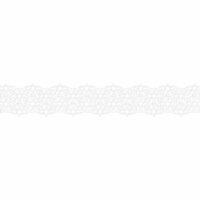 Karen Foster Design - Pavilio Lace Tape - Stars - White - 47 mm