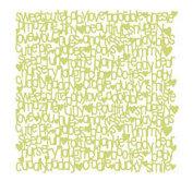 KI Memories - Lace Cardstock - Lullaby - Green Tea, CLEARANCE