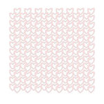 KI Memories - Lace Cardstock - Hearts - Blushing, CLEARANCE