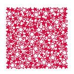 KI Memories - Lace Cardstock - Stars - Red Hot