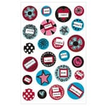 KI Memories - Love Elsie - Roxie Collection - Gel Stickers - Roxie Round Gels, CLEARANCE