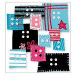 KI Memories - Love Elsie - Roxie Collection - Chipboard Buttons - Roxie Blocks, CLEARANCE