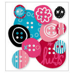 KI Memories - Love Elsie - Roxie Collection - Chipboard Buttons - Roxie Rounds, BRAND NEW