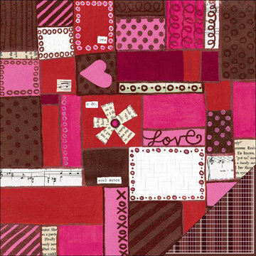 KI Memories - Love Elsie - Betty Collection - Double Sided Paper - Betty Patchwork, CLEARANCE
