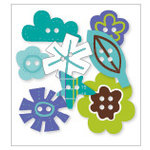 KI Memories - Love Elsie - Toby Collection - Chipboard Buttons - Toby Shapes, BRAND NEW