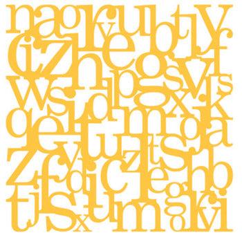 KI Memories - Pop Culture Collection - Lace Cardstock - Hangman - Taxi - Alphabet - Yellow