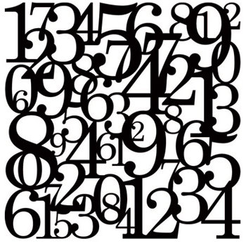 KI Memories - Pop Culture Collection - Lace Cardstock - Hopscotch - Black - Numbers