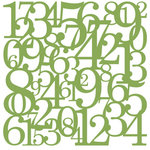 KI Memories - Pop Culture Collection - Lace Cardstock - Hopscotch - Lucky - Green - Numbers
