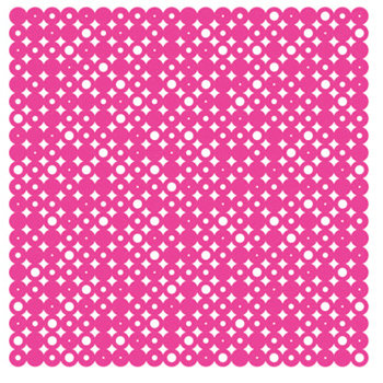 KI Memories - Pop Culture Collection - Lace Cardstock - Disco Ball - Hot Pink