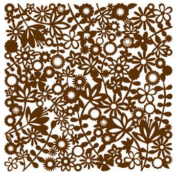 KI Memories - Pop Culture Collection - Lace Cardstock - Flower Child - Socialite - Brown