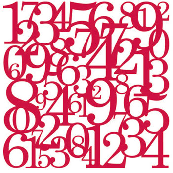 KI Memories - Pop Culture Collection - Lace Cardstock - Hopscotch - Red Hot - Numbers