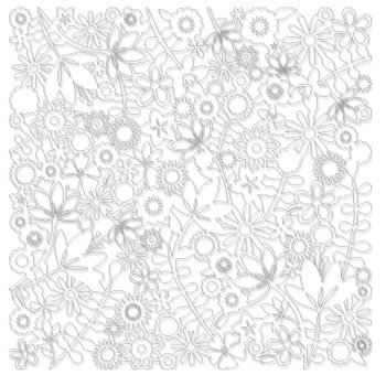 KI Memories - Pop Culture Collection - Lace Cardstock - Flower Child - White