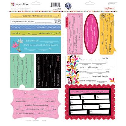 KI Memories - Pop Culture Collection - Cardstock Stickers - Taglines - Love