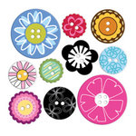 KI Memories - Pop Culture Collection - Soft Rubber Charms - Softies - Round Buttons