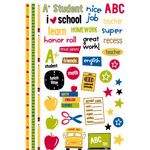 KI Memories - School Days Collection - Glitter Rub Ons - Tattoos Icons, CLEARANCE