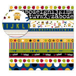 KI Memories - School Days Collection - 12 x 12 Frosty Patterns Paper - Multi Stripe