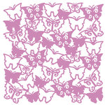 KI Memories - Glitter Lace Cardstock - Flutter Calm, CLEARANCE