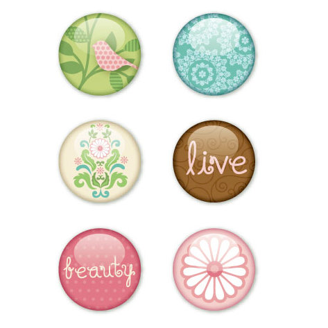 KI Memories - Enchanting Collection - Metal Stickers - Badges, CLEARANCE