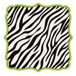 KI Memories - Wild Life Collection - 12 x 12 Die Cut Paper - Zebra Stripes