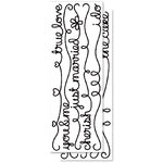 KI Memories - Sticklers - Glitter Stickers - Borders - Wedding Words - Black