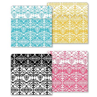 KI Memories - Designer Keepsake Holders - 5 x 5 Pockets - Damask