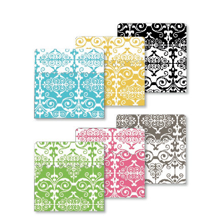 KI Memories - Designer Keepsake Holders - 3 x 3 Pockets - Damask