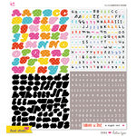 KI Memories - Hot Date Collection - 12 x 12 Cardstock Stickers - Alphabet - Hottie Type