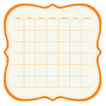 KI Memories - Sew Cute Calendars Collection - 12 x 12 Double Sided Die Cut Paper - Citrus