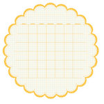 KI Memories - Sew Cute Calendars Collection - 12 x 12 Double Sided Die Cut Paper - Daisy