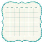 KI Memories - Sew Cute Calendars Collection - 12 x 12 Double Sided Die Cut Paper - Lagoon
