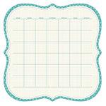 KI Memories - Sew Cute Calendars Collection - 12 x 12 Double Sided Die Cut Paper - Lagoon