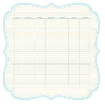 KI Memories - Sew Cute Calendars Collection - 12 x 12 Double Sided Die Cut Paper - Powder