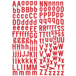 KI Memories - Sticklers - Alphabet Glitter Stickers - Classic - Red