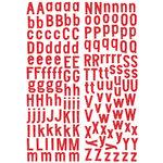 KI Memories - Sticklers - Alphabet Glitter Stickers - Classic - Red