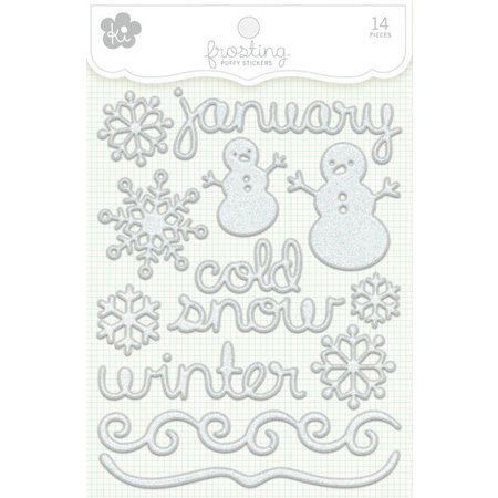 KI Memories - Frosting - 3 Dimensional Puffy Stickers - January