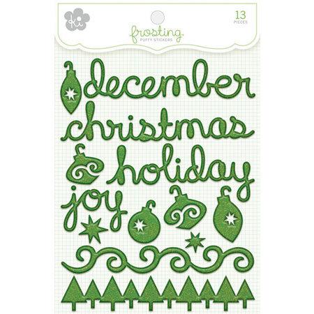 KI Memories - Frosting - 3 Dimensional Puffy Stickers - December