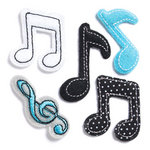 KI Memories - Puffies Collection - 3 Dimensional Fabric Stickers - Music