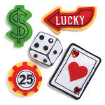 KI Memories - Puffies Collection - 3 Dimensional Fabric Stickers with Gem Accents - Las Vegas