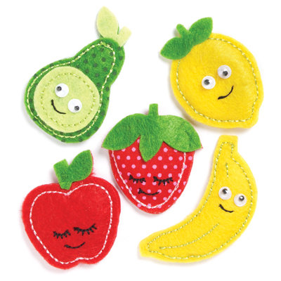 KI Memories - Puffies Collection - 3 Dimensional Fabric Stickers - Fruity