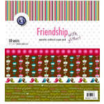KI Memories - 12 x 12 Specialty Cardstock Paper Pack with Glitter - Friendship, CLEARANCE