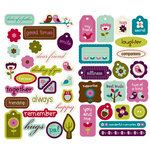 KI Memories - Friendship Collection - Chipboard Stickers - Hip Chip Accents, CLEARANCE