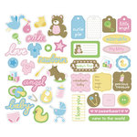 KI Memories - Embellishment Boutique - Chipboard Stickers - Hip Chip Accents - Baby, CLEARANCE