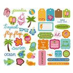 KI Memories - Embellishment Boutique - Chipboard Stickers - Hip Chip Accents - Beach