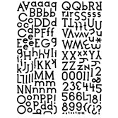 KI Memories - Embellishment Boutique - Alphabet Glitter Stickers - Cookie Cutter - Black, CLEARANCE